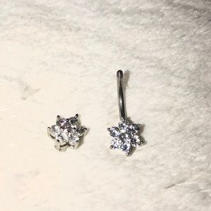 Sterling Silver belly button ring
